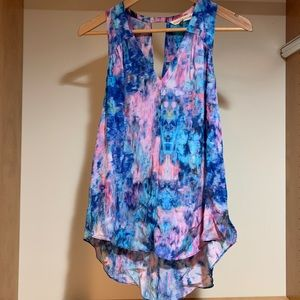 Rebecca Taylor Silk Watercolor Tank